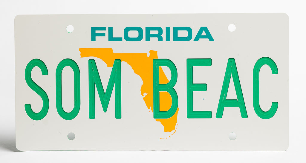 Florida Map License Plate