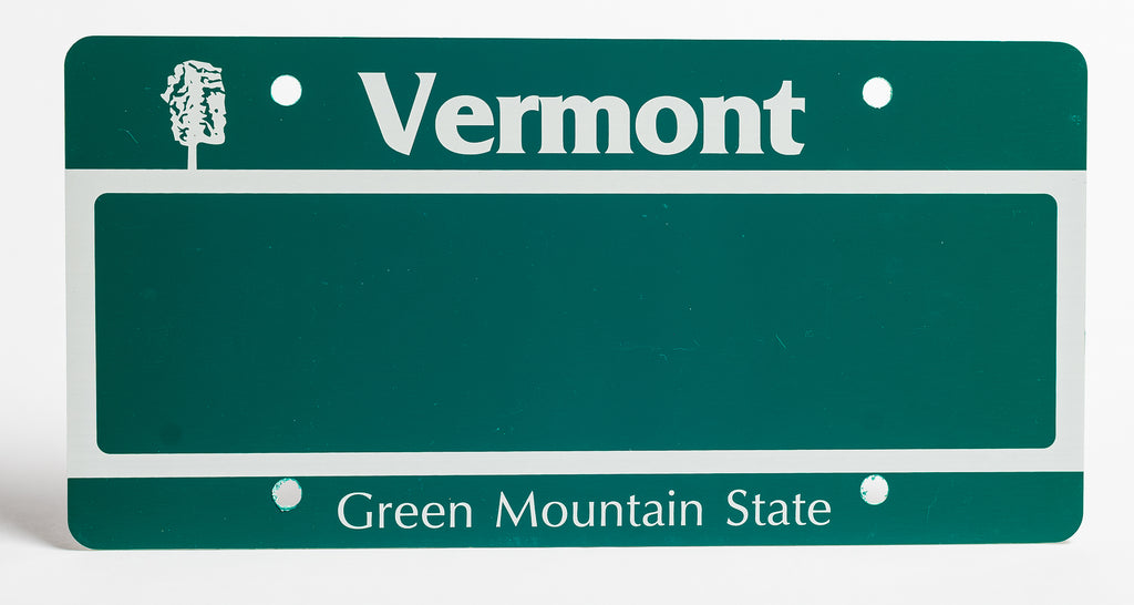 Vermont License Plate - BLOW OUT SPECIAL - FREE STANDARD SHIPPING