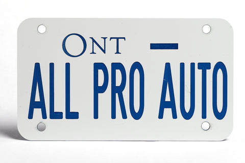 Ontario Motorcycle Plate