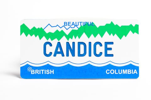 British Columbia Bicycle Plate