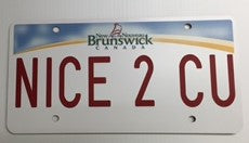 New Brunswick License Plate