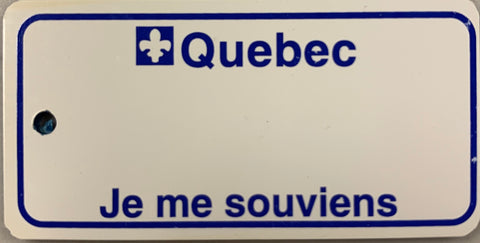 Quebec Key Tag