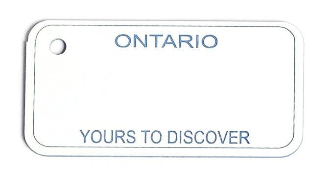 Ontario Key Tag - Yours to Discover (1984-1995)