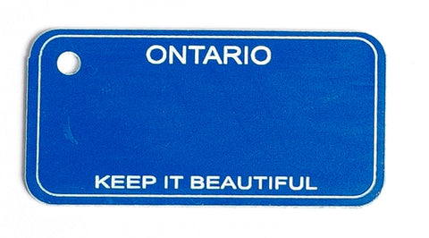 Ontario Key Tag - Keep It Beautiful (Blue)