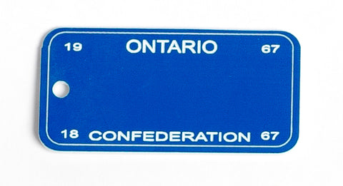 Ontario Key Tag - Confederation 1967