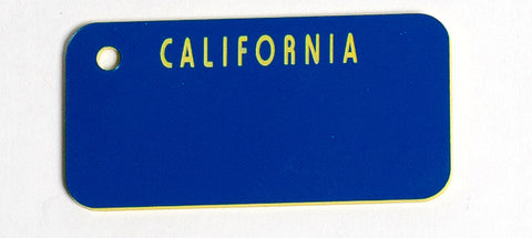 California Blue/Yellow Key Tag