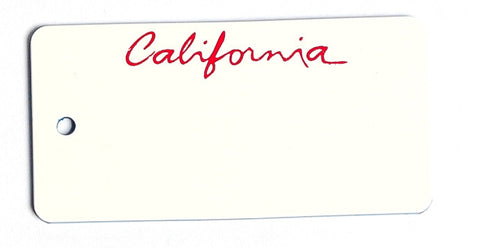 California Script Key Tag