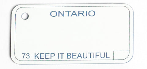 Ontario Key Tag - 1973 Keep it Beautiful