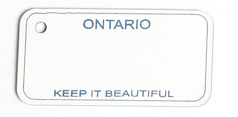 Ontario Key Tag - Keep It Beautiful (1974-1983)