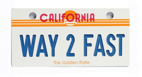 California Sun Bicycle Plate