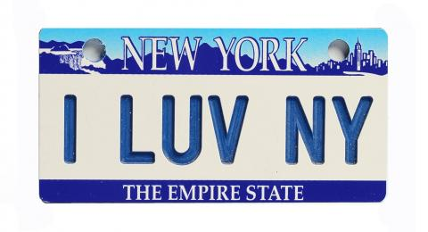 New York Bicycle Plate