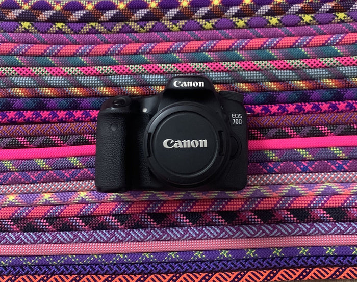 Custom Camera Strap - Pink & Purple Ropes - Just Pet Products