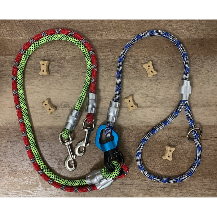 The Dog Walker - Custom, Multi-Lead Climbing Rope Leash - Just Pet Products