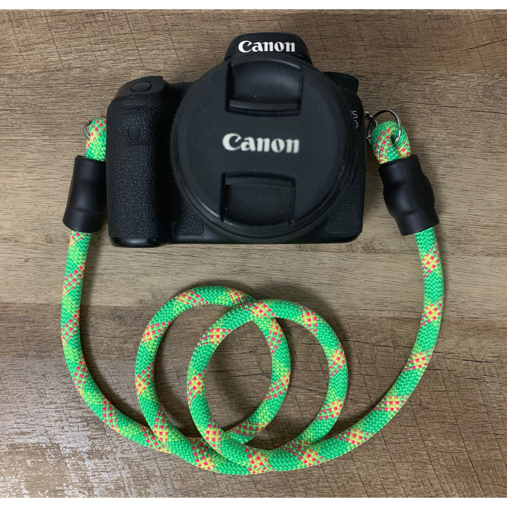 Climbing Rope Camera Strap - Green Patterns - Just Pet Products