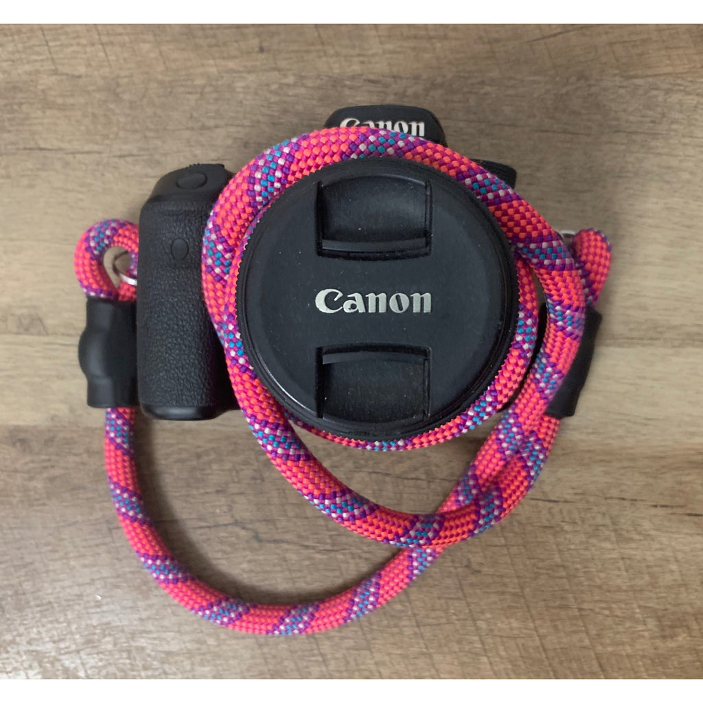 Climbing Rope Camera Strap - Purple & Pink Patterns - Just Pet Products