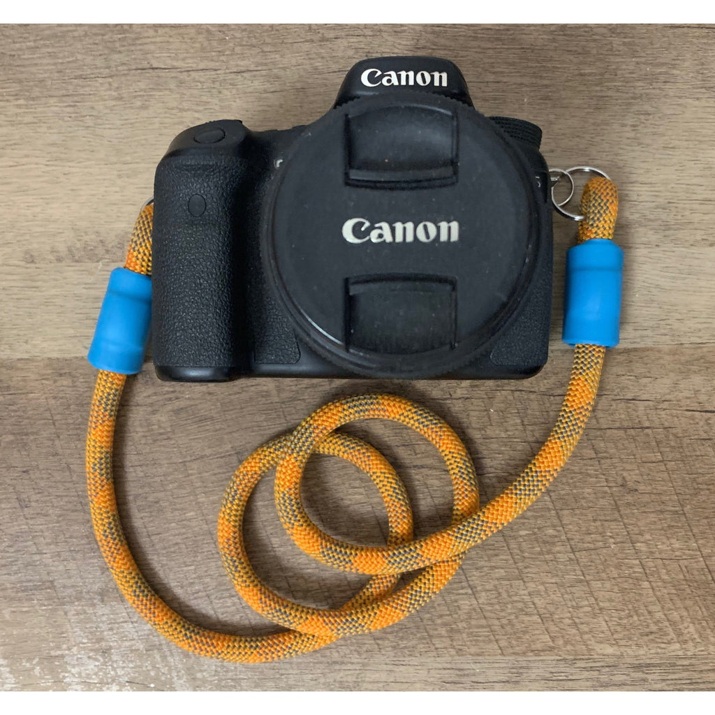 Climbing Rope Camera Strap - Red & Orange Patterns - Just Pet Products