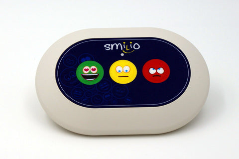 Borne de satisfaction Smilio 3 Smileys, 3 ans de services inclus, Borne de sondage - Smilio
