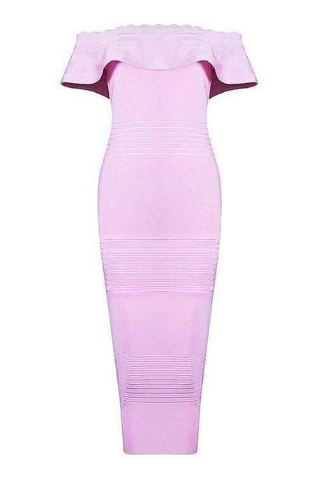 Ling Ling Bandage Dress - Purple