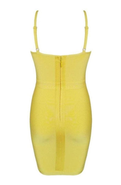 Lorelai Bandage Dress - Yellow, Dresses, [product_color]