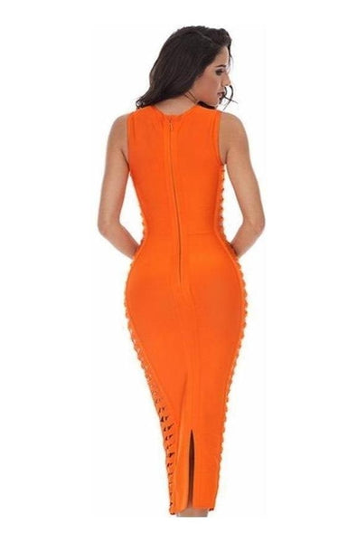 Monroe Bandage Dress - Orange, Dresses, [product_color]