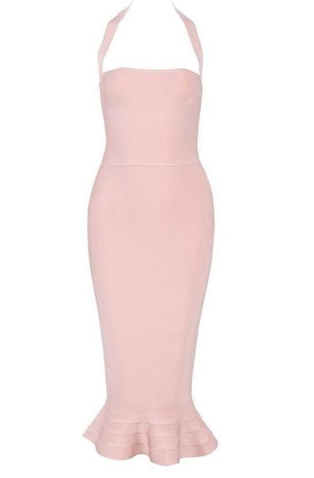 Adele Bandage Dress - Pink