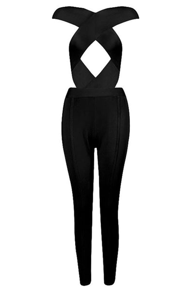 Heidi Bandage Jumpsuit - Black, Jumpsuits, [product_color]