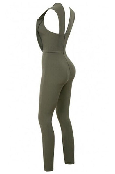 Matilda Bandage Jumpsuit - Army Green, Jumpsuits, [product_color]