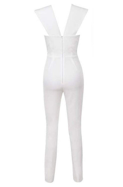 Matilda Bandage Jumpsuit - White, Jumpsuits, [product_color]