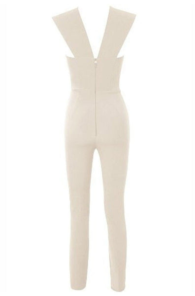 Matilda Bandage Jumpsuit - Nude, Jumpsuits, [product_color]