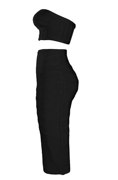 Mischka Bodycon Two Piece Set - Black, Two-Pieces, [product_color]