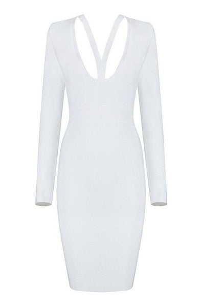 Evelyn Bandage Dress - White, Dresses, [product_color]
