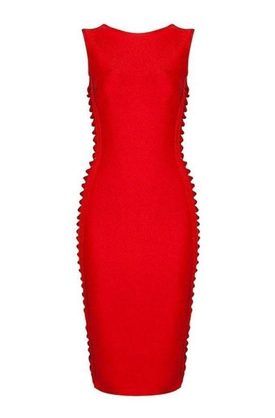 Monroe Bandage Dress - Red, Dresses, [product_color]