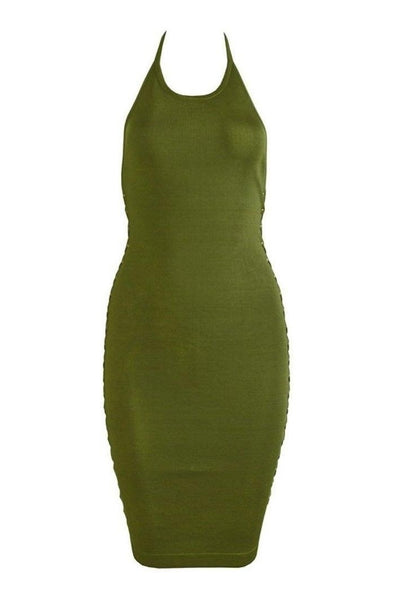 Juliet Bandage Dress - Green, Dresses, [product_color]