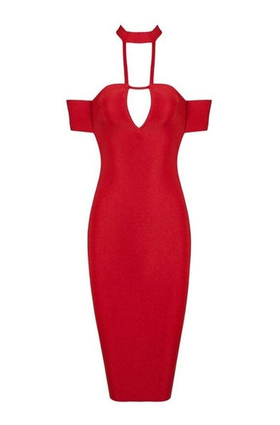Nadia Bandage Dress - Red, Dresses, [product_color]