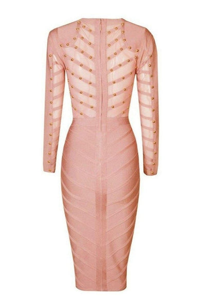 Adele Bandage Dress - Pink, Dresses, [product_color]