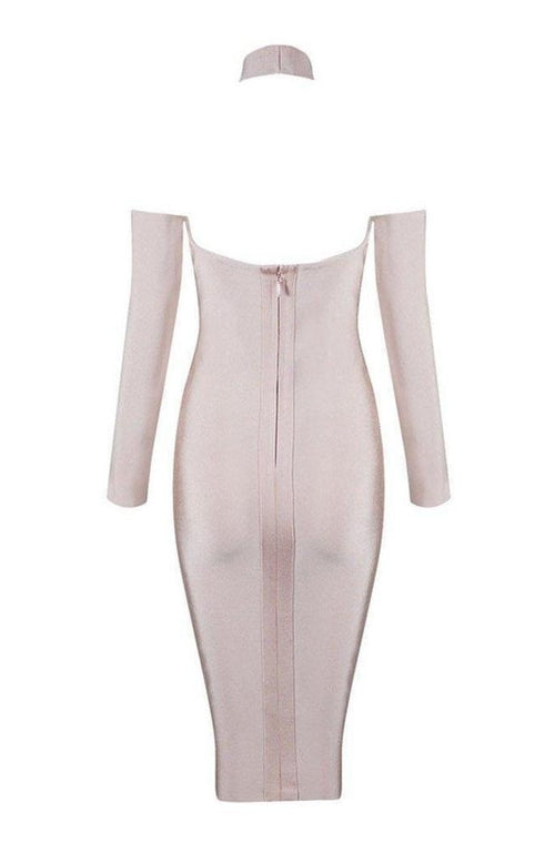 Harper Bandage Dress - Nude, Dresses, [product_color]
