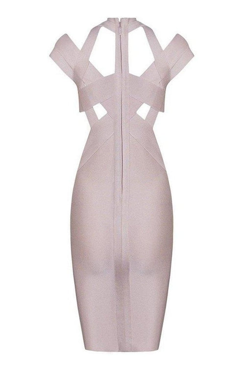 Revel Bandage Dress -Nude, Dresses, [product_color]