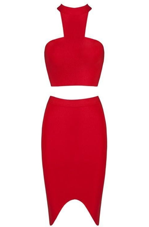 Meredith Bandage Two-Piece - Red