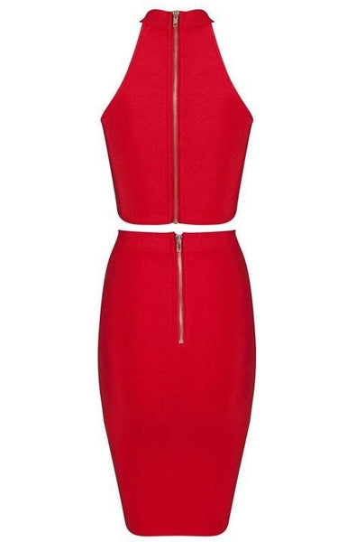 Meredith Bandage Two-Piece - Red, Two-Pieces, [product_color]