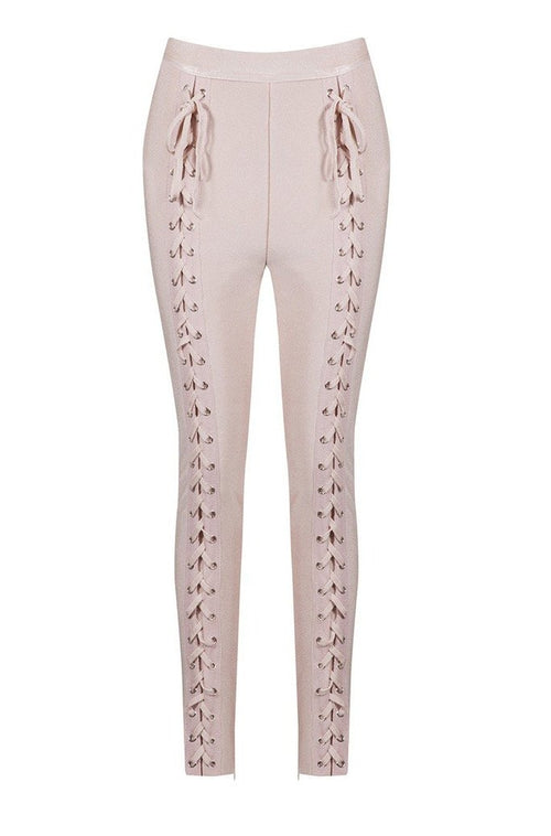 Cecily Bandage Pants - Nude, Pants, [product_color]