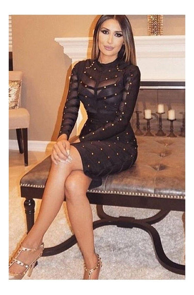 Adele Bandage Dress - Black, Dresses, [product_color]
