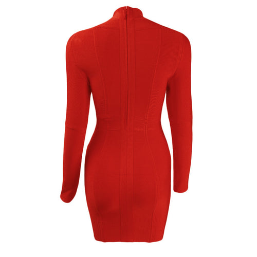 Aliya Bandage Dress - Red, Dresses, [product_color]