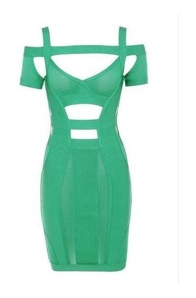 Katrina Bandage Dress - Green, Dresses, [product_color]