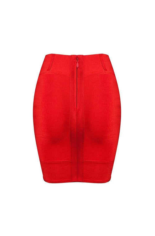 Sirenne Skirt - Red, Skirts, [product_color]