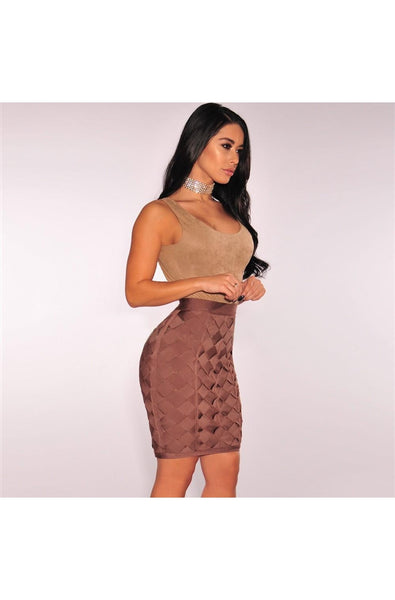 Yvette Skirt - Brown, Skirts, [product_color]