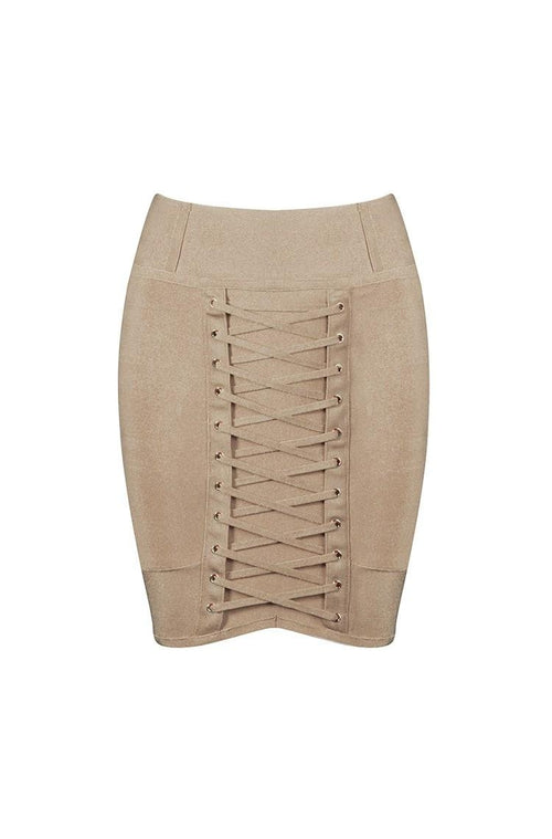 Sirenne Skirt - Khaki, Skirts, [product_color]