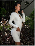 Katerina Bandage Dress - White, Dresses, [product_color]