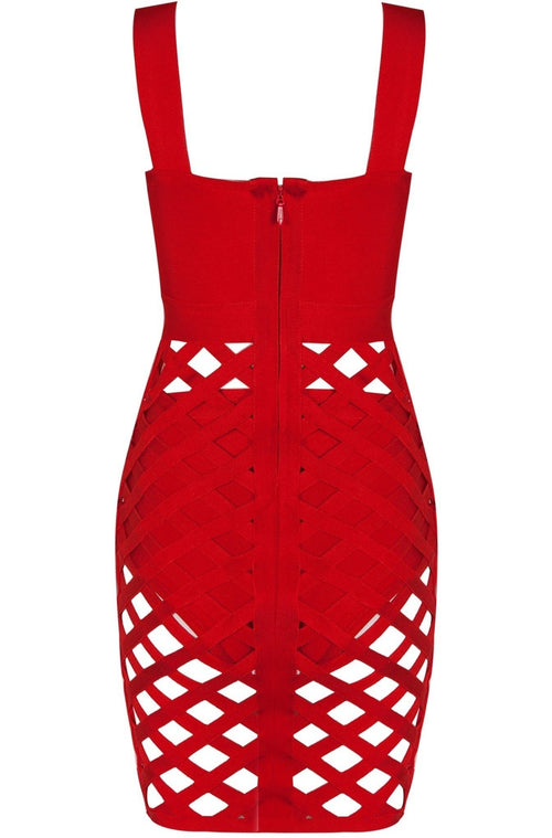 Soraya Bandage Dress - Red, Dresses, [product_color]