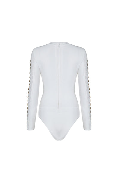 Maleah Bodysuit - White, Bodysuit, [product_color]