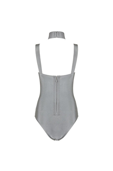 Lottie  Bandage Bodysuit - Gray, Bodysuit, [product_color]